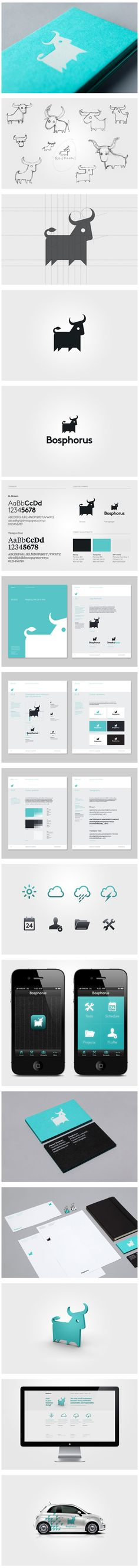 identidad corporativa completa con bocetos Via Behance.