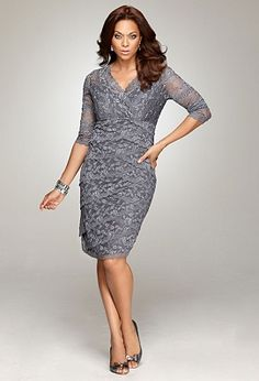 Emejing Plus Size Grey Dresses Pictures - Mikejaninesmith.us ...