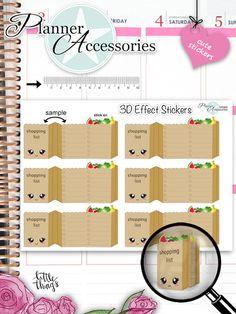 Sticker - 3D effekt Sticker - Einkaufstüte Sticker NR860 - ein Designerstück von PlannerAccessories bei DaWanda