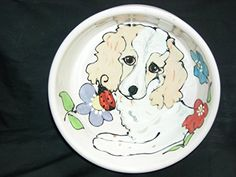 Water Bowl 8 Dog Bowl for Food or Water Personalized at no Charge Signed by Artist Debby Carman ** Click image to review more details.