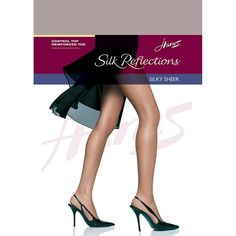 a4296cac6 Hanes Reflections Women s Control Top Reinforced Toe Pantyhose Soft Taupe  Beige Tights