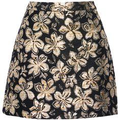 Alice + Olivia Riley metallic jacquard mini skirt (170 AUD) ❤ liked on Polyvore featuring skirts, mini skirts, bottoms, saia, metallic, floral print skirt, mini skirt, short mini skirts, jacquard skirt and black miniskirt