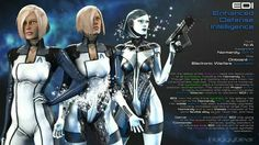 EDI (I'd love it if EDI's infiltration Mech had silver hair and eyes)