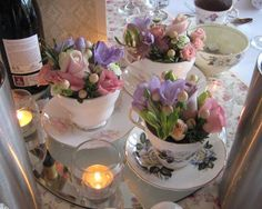 vintage wedding teacups