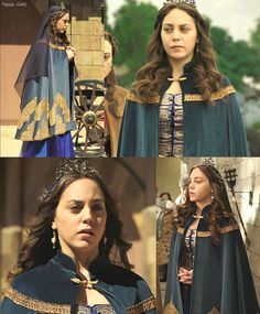 muhtesem yuzyil kosem, magnificent century kosem, dilruba sultan, purple dress, gold detailing, cape
