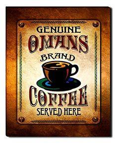 Omans Brand Coffee Gallery Wrapped Canvas Print ZuWEE…