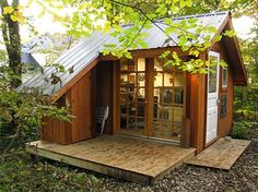 夢見るガーデンハウス。こんな魅惑的な小屋が庭先にあったなら・・・。 : Martin Island ~空と森と水と~