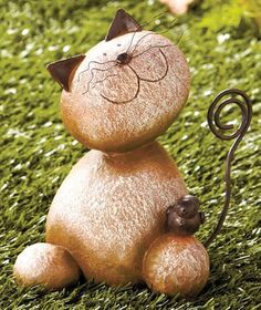 Stone Kitty Yard Statue, Adorable by ABC, http://www.amazon.com/dp/B008DZJK82/ref=cm_sw_r_pi_dp_YQNksb1WZP7PA