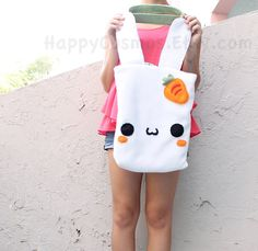 Bunny Tote Bag  Cute Tote  Kawaii Bag  School by HappyCosmos, $20.00 DEFINITELY for school next year!