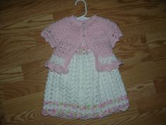 Free Crochet Girls Dress Pattern | Dress with sweater Free pattern at http://www.ravelry.com/patterns ...