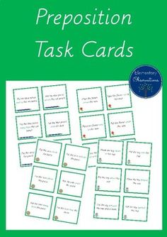 Preposition Task Cards - easy to prepare!