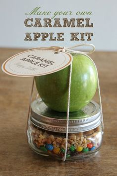 A Caramel Apple Kit is the perfect gift for a neighbor or teacher this fall!