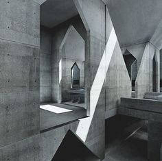 onsomething:        onsomething        Louis I. Kahn | Hurva Synagogue, 1967-74 Jerusalem, unbuilt