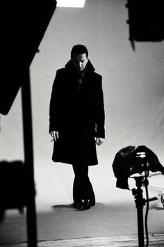 """Dave Gahan - Behind the scenes of """"Nostalgia"""" video © Desiree Asher."""
