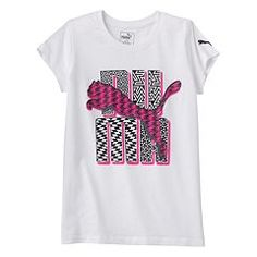Girls 7-16 PUMA  Logo Glitter Graphic Tee