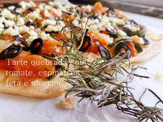 A Cozinha da Ovelha Negra: Tarte quebrada de tomate, espinafres, feta e alecr...