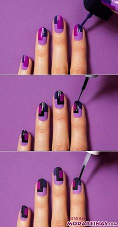 DIY Colorful Nails nails diy craft nail art nail trends diy nails diy nail art easy craft diy fashion manicures diy nail tutorial easy craft ideas teen crafts home manicures Cute Nail Art, Nail Art Diy, Easy Nail Art, Diy Nails, Nail Tip Art, Nail Art Stripes, Striped Nails, Nail Art Designs Videos, Diy Nail Designs