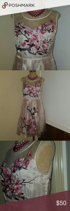 ** NEW ITEM ** JUST IN COMING SOON! Sheer dress with tree branches and flowers. O&Y Dresses Mini