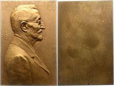 Renner, Viktor (1846-1943), numismatist, expert on Austrian coins and monetary history; medal by L. Hartig (see also Koch NZ 1971, pl. 24, 10)