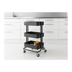 RÅSKOG Utility cart, dark gray