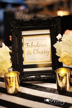 Fabulous and Classy Coco Chanel Party sign