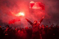 Marsz Narodowców w Święto Niepodległości. Warszawa. 11.11.2015 /Filip