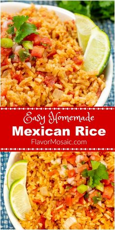 Easy Homemade Mexican Rice Easy Homemade Mexican Rice This Easy Homemade Mexican Rice, or Spanish Rice, with its bold Mexican flavors, will make your taste buds do a salsa dance, which makes it a perfect side dish for your Mexicac dinner. Homemade Mexican Rice, Mexican Rice Recipes, Rice Recipes For Dinner, Side Dish Recipes, Easy Mexican Rice, Authentic Mexican Rice, Mexican Salsa, Mexican Fried Rice, Mexican Desserts