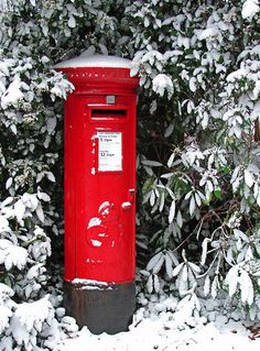 """Pillar Box in the Snow"" Redbubble.  I loved our post boxes and a loss when one by one they disappeared."