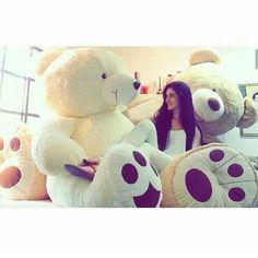 I luv teddy. Cute Girl Poses, Cute Girl Photo, Cute Girls, Giant Teddy Bear, Cute Teddy Bears, Teedy Bear, Bear Girl, Pink Office Decor, Teddy Girl