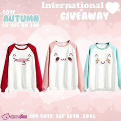 Kawaii emoji jumper giveaway is coming. So excited,right? Join in it right now…