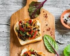 Tartine aux courgettes, poivrons et Toastinette