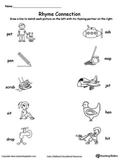 ... printable worksheet.Learning the concept of rhyming words will enhance