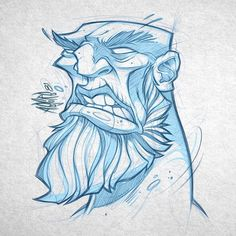 "1,417 Beğenme, 9 Yorum - Instagram'da Craig Patterson (@absorb81): ""Random scribble to loosen things up. #art #scribble #angry #character #graffiticharacter #beard…"""