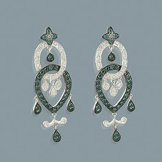 These Blue Diamond Chandelier Earrings weigh approximately 5 grams and showcase ctw of sparkling white and fancy blue diamonds. Featuring an intricate design, these ladies diamond chandelier dangle earrings are available in white, yellow and rose gold. Diamond Chandelier Earrings, Diamond Drop Earrings, Statement Earrings, Women's Earrings, Gold Earrings For Men, Blue Diamond Jewelry, Quality Diamonds, Blue Diamonds, Jewels