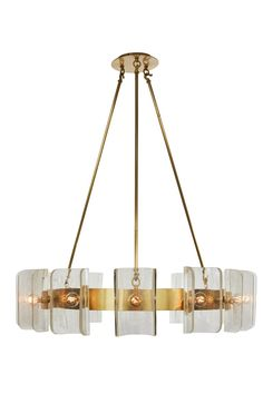 Helios Tall Chandelier  Industrial, Transitional, MidCentury  Modern, Contemporary, Glass, Metal, Chandelier by Zia Priven
