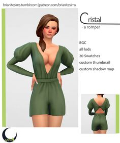 Cristal Romper | Brianitesims on Patreon