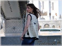 60-s linen vest
