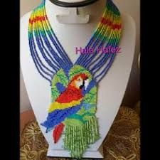 Resultado de imagen para collares embera chami Bead Loom Patterns, Peyote Patterns, Beading Patterns, Beaded Jewelry, Beaded Necklace, Necklaces, Beaded Banners, Beads Pictures, African Jewelry