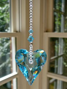 Blue Crystal Suncatcher for Car or Home by HeartstringsByMorgan, $24.00