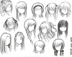 Hairstyles to draw (anime style)