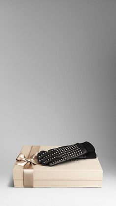 Studded Leather Gloves | Burberry