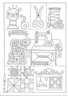 Embroidery Pattern from Resultado de imagen para patrones de patchwork de anni downs. jwt