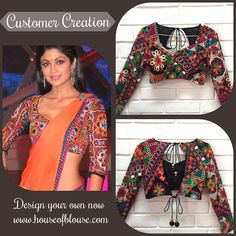 Customer Creation ❤ Crushing on your fav celebs style? Create an inspired version of a blouse you love with a similar style or fabric in 3 fun steps on our website! Here's one such stunning Kutch work blouse customised and ordered by one of our lovely customers smile emoticon Shop it here or customize it further here : http://bit.ly/1BQJY1N For any assistance we are available at: +91 8105068601. *Shipping worldwide now* #saree #blouse #bollywood #fashion #style #indianwear