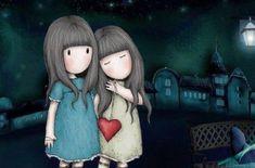 Risultati immagini per abecedario gorjuss Art And Illustration, Illustrations, Heart Art, Cute Dolls, Pretty Pictures, Cute Art, Little Girls, Art Photography, Street Art