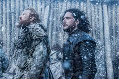 Game of Thrones. Jon Snow and Tormund at the Battle of Hardhome.