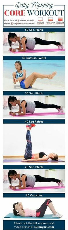 Morning Core Workout #absworkout #coreworkouts