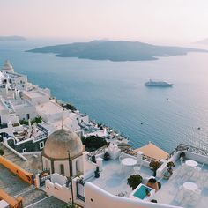off too this beauty end of next year - santorini #santorini #athens #greece #greekgod by sincerely.eddie