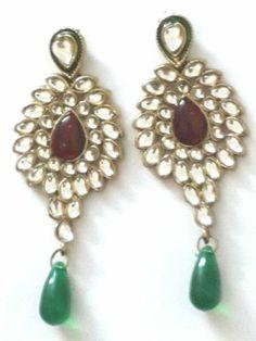 Beautiful Kundan Earrings   eBay