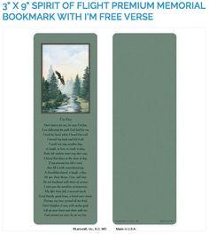 """Create laminated memorial bookmarks with Lamcraft's 3"""" x 9"""" Spirit of Flight Premium Memorial Cards"""