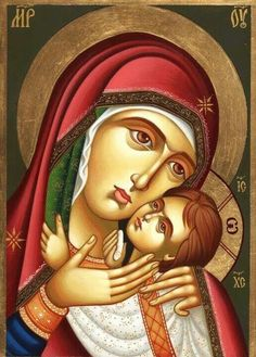 Religious Images, Religious Icons, Religious Art, Virgin Mary Art, Blessed Virgin Mary, Religion Catolica, Jesus Painting, Byzantine Icons, Madonna And Child